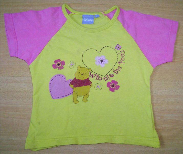 t-shirt jaune et rose 4 ans disney.jpg