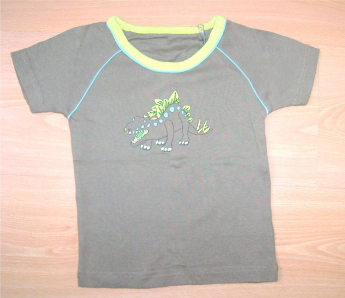 t-shirt kaki 1 an avec un dinausaure.jpg