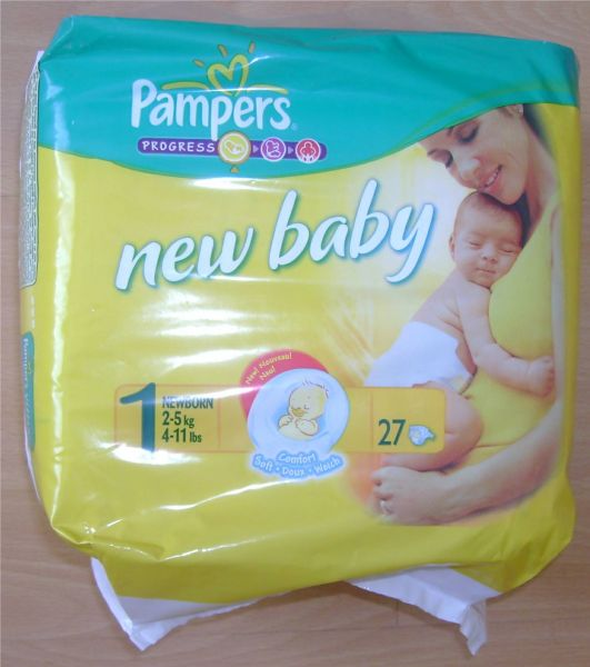 Boutique baby couches pampers new baby taille 1 - Couches pampers naissance ...