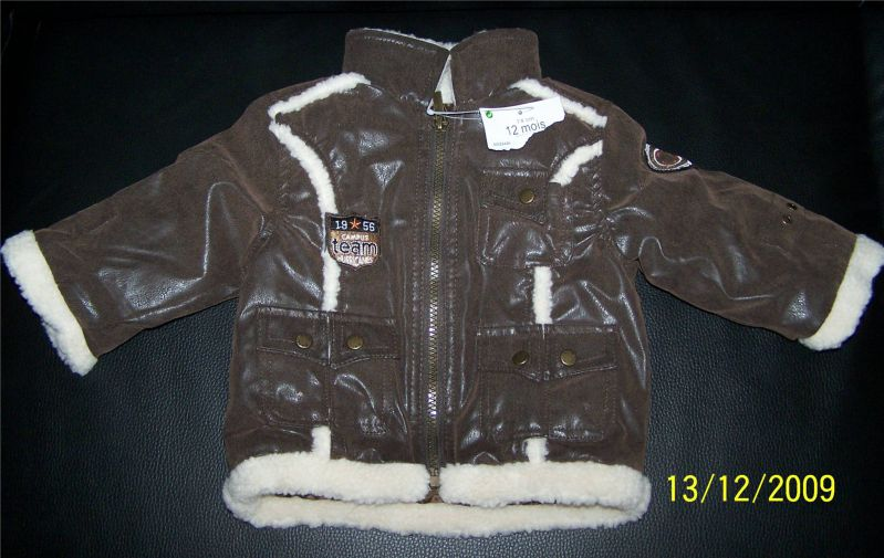 veste brune chaude neuve 12 mois.jpg