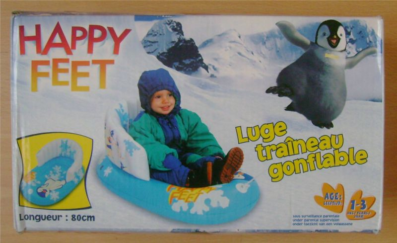 luge traineau gonflable neuve Happy feet.jpg