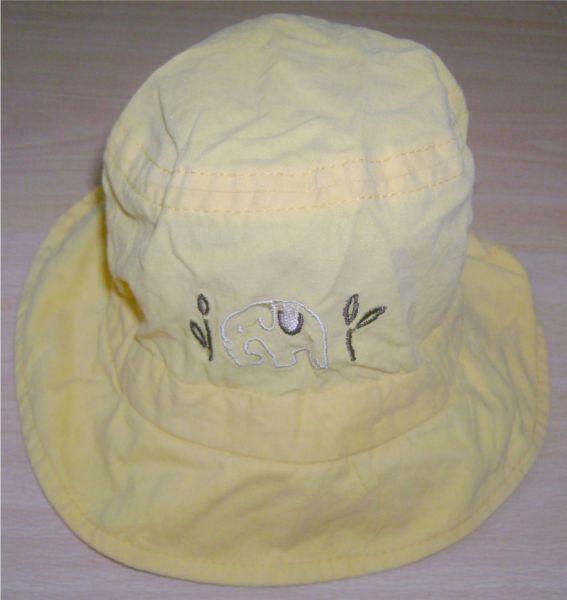 Chapeau jaune réglable avec éléphant.jpg