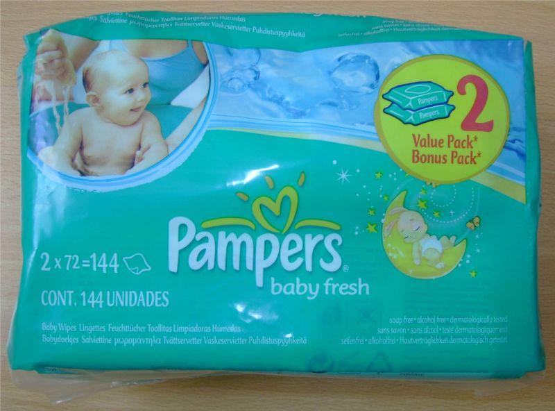 Lot de lingettes Pampers Baby Fresh à tarif réduit.jpg