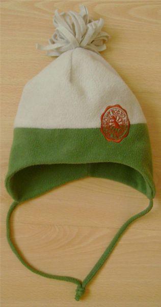 bonnet en polaire vert et beige 44 cm.jpg