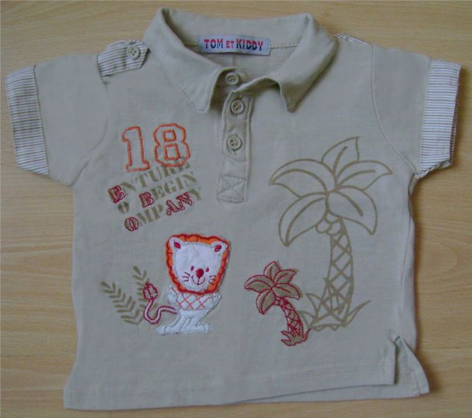 polo beige Tom et Kiddy 6 mois.jpg