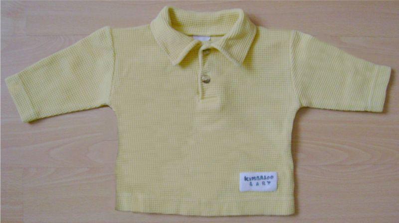 pull polo jaune Kimbaloo Baby 6 mois.jpg
